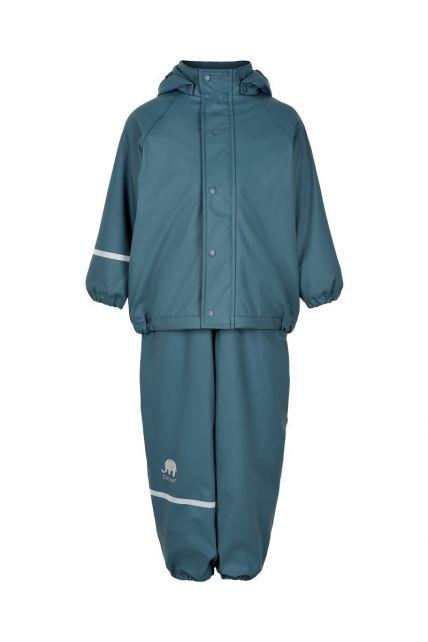 CeLaVi---Regenset-met-fleece-voor-kinderen---boord-of-elastische-taille---IJsblauw