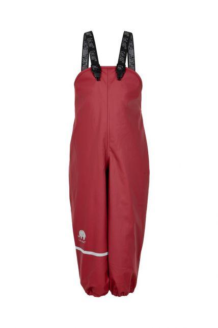 CeLaVi---Regenbroek-met-fleece-voor-kinderen---Boord-of-elastische-taille---Donkerrood