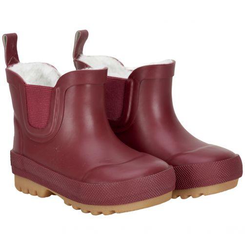 CeLaVi---Korte-snowboots-met-fleece-voor-kinderen---Thermisch---Donkerrood