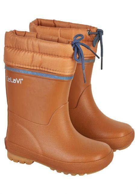 CeLaVi---Snowboots-met-fleecevoering-voor-kinderen---Thermisch---Pompoen