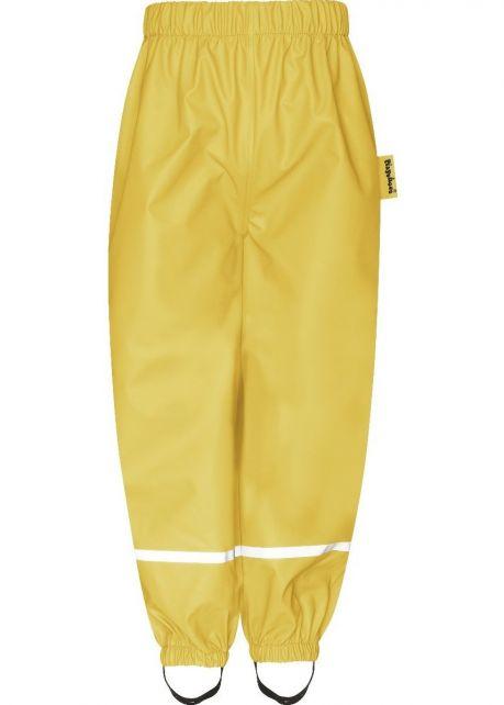 Playshoes---Regenbroek-met-Fleece-voering-voor-kinderen---Yellow