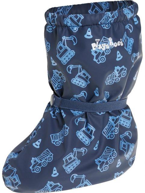 Playshoes---Waterdichte-overschoenen-met-fleece-voering---Bouwplaats---Donkerblauw