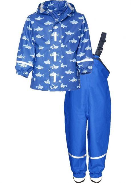 Playshoes---Regenpak-Haaien---Blauw