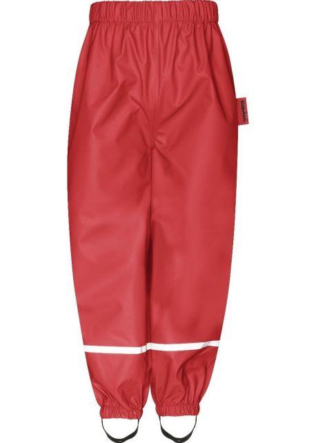 Playshoes---Regenbroek-met-Fleece-voering-voor-kinderen---Rood