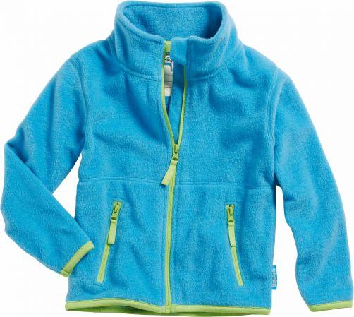 Playshoes---Fleecejack---Lichtblauw/Groen