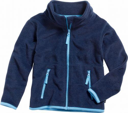 Playshoes---Fleecejack---Donkerblauw/Blauw