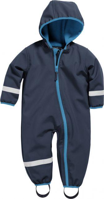Playshoes---Softshell-Overall-voor-baby's-en-peuters---Donkerblauw
