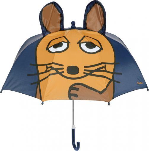 Playshoes---Paraplu-voor-kinderen---Muis-met-3D-oren---Donkerblauw