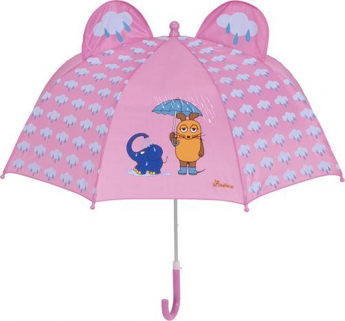 Playshoes---Paraplu-3D-voor-kinderen---Muis-&-Olifant---Roze