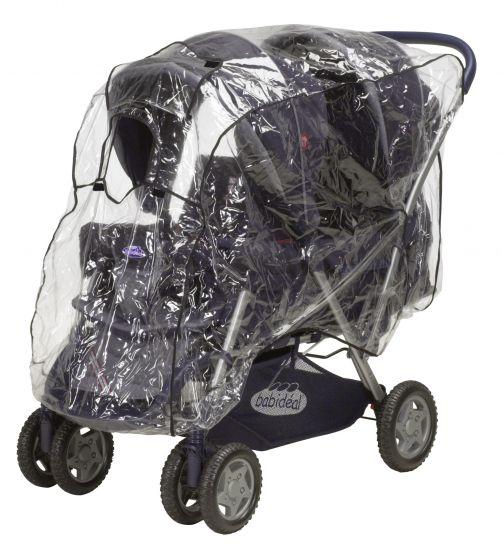 Playshoes---Universele-regenhoes-voor-duo-kinderwagen-(tandem)---transparant