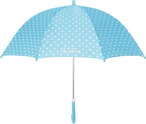 Playshoes---Paraplu-voor-kinderen---Stippen---Turquoise