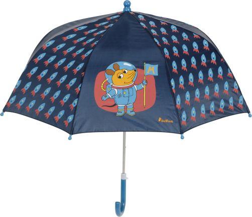 Playshoes---Paraplu-voor-kinderen---Muis---in-de-ruimte---Donkerblauw