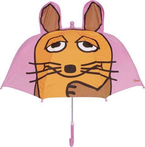 Playshoes---Paraplu-voor-kinderen---Muis-met-3D-oren---Roze