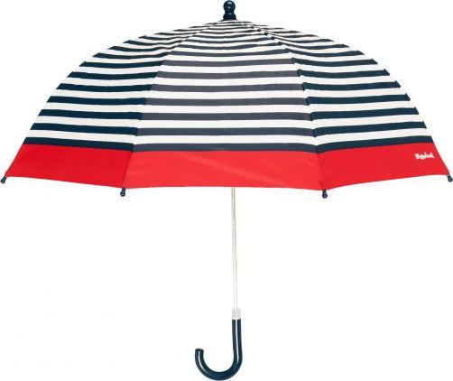 Playshoes---Kinder-paraplu-met-strepen---Donkerblauw/Wit