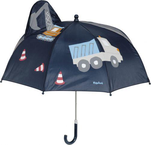 Playshoes---Paraplu-3D-voor-kinderen---Bouwplaats---Donkerblauw