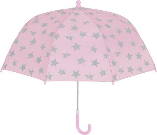 Playshoes---Paraplu-voor-kinderen---Sterren---Roze