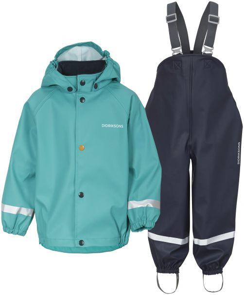 Didriksons---Regenpak-set-5-voor-baby's---Boardman---2-Color---Groen