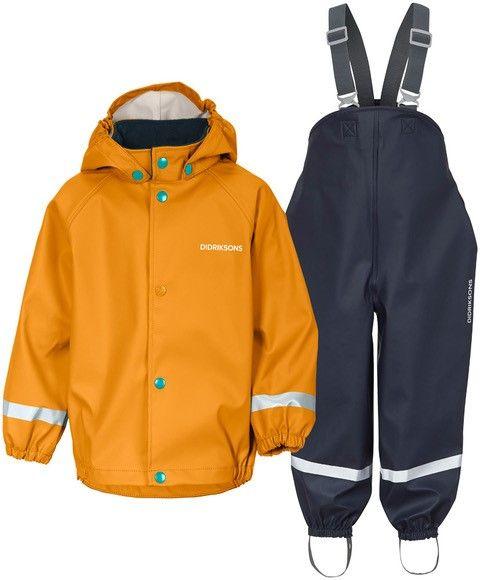 Didriksons---Regenpak-set-5-voor-baby's---Boardman---2-Color---Geel