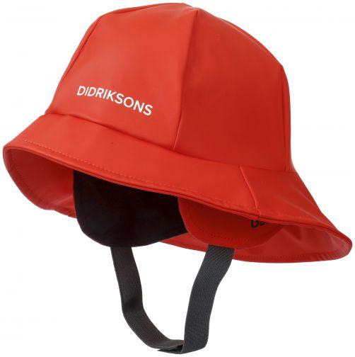 Didriksons---Regenhoed-voor-kinderen---Zuidwester---Papaverrood