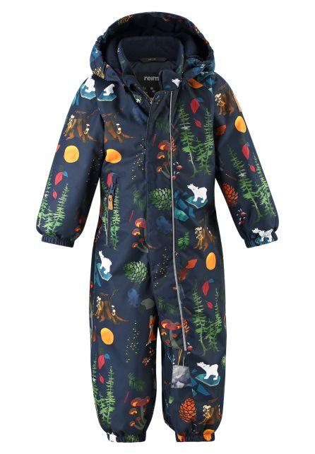Reima---Sneeuwpakje-voor-baby's---Reimatec---Puhuri---Donkerblauw-bosprint