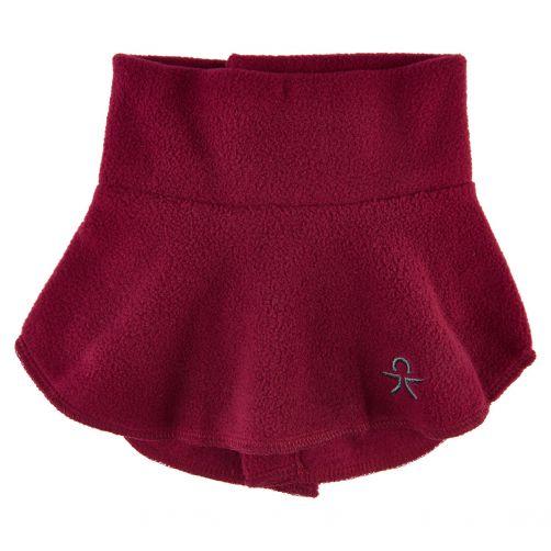 Color-Kids---Fleece-halswarmer-voor-kinderen---Kraag---Donkerrood