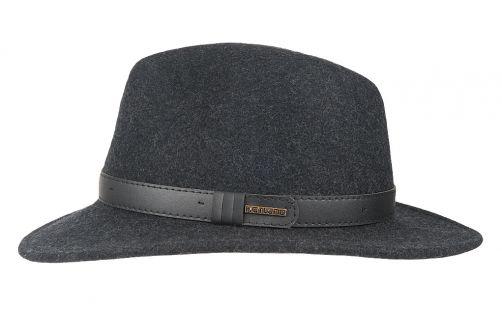 Hatland---Wollen-hoed-voor-heren---Verbank---Antraciet