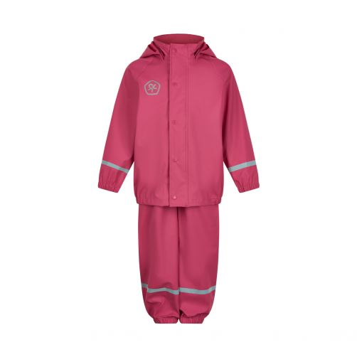 Color-Kids---Regenpak-set-met-bretels-voor-kinderen---Fel-roze