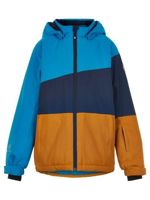 Color-Kids---Ski-jas-voor-jongens---Colorblock---Lichtblauw/Donkerblauw/Honing