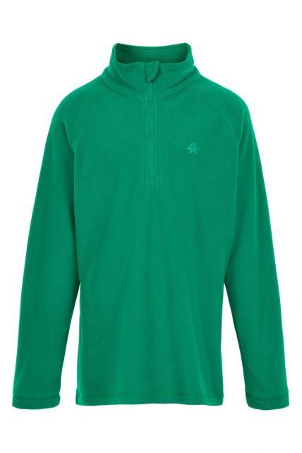 Color-Kids---Fleece-pullover-met-halve-rits-voor-kinderen---Effen---Groen