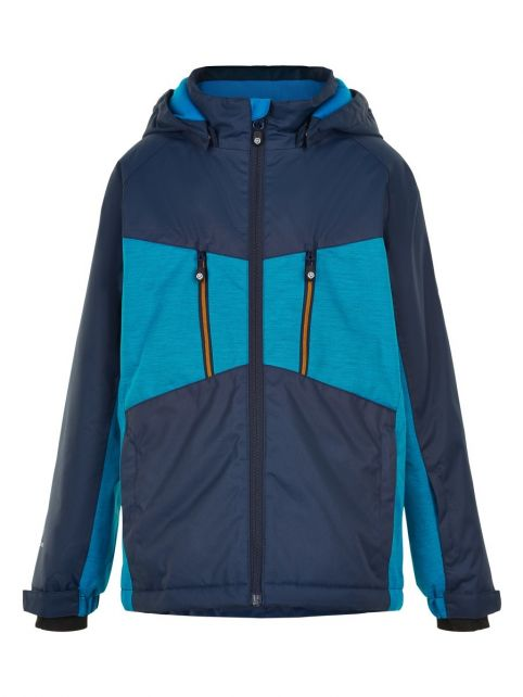 Color-Kids---Ski-jas-voor-meisjes---Melange---Lichtblauw