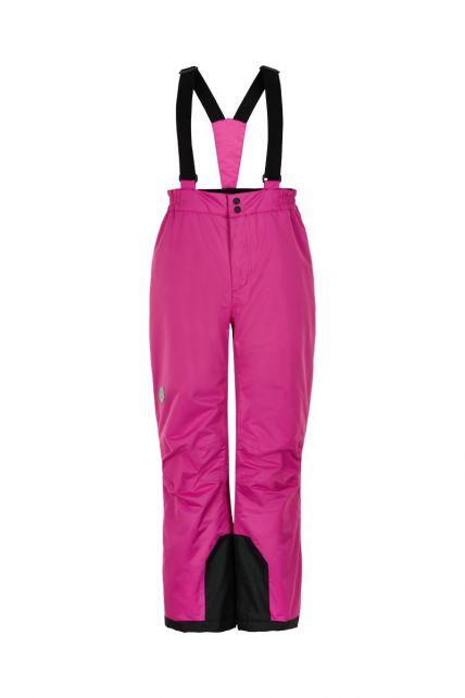 Color-Kids---Skibroek-met-vaste-bretels-voor-meisjes---Effen---Roze