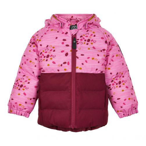 Color-Kids---Softshell-jasje-voor-babymeisjes---Dots---Donkerrood