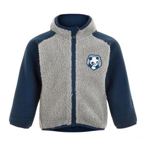 Color-Kids---Fleece-jasje-voor-baby's---Colorblock---Grijs/Donkerblauw