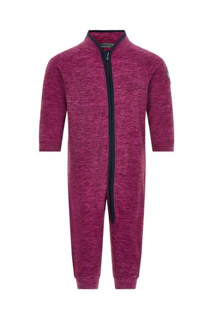 Color-Kids---Fleece-overall-voor-baby's---Melange---Donkerrood