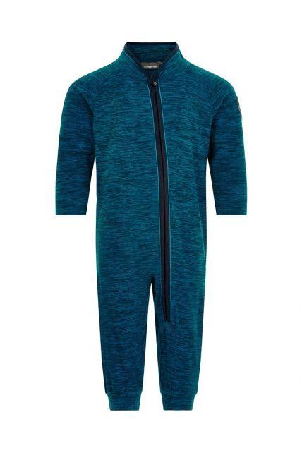 Color-Kids---Fleece-overall-voor-baby's---Melange---Donkerblauw