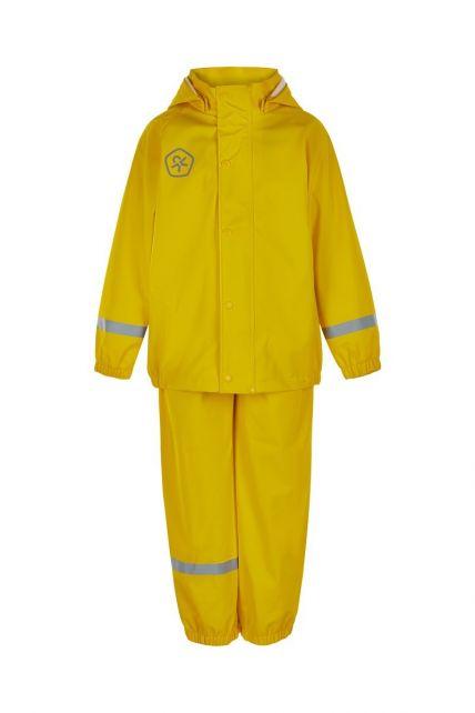 Color-Kids---Regenpak-van-gerecycled-materiaal-voor-kinderen---Effen---Geel