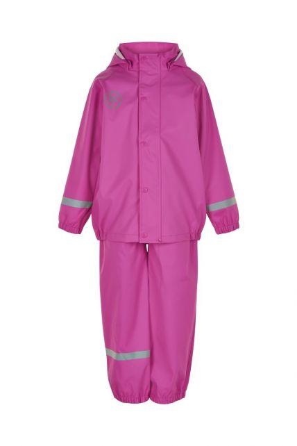 Color-Kids---Regenpak-van-gerecycled-materiaal-voor-meisjes---Effen---Roze