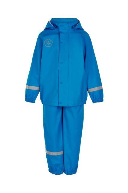 Color-Kids---Regenpak-van-gerecycled-materiaal-voor-kinderen---Effen---Lichtblauw