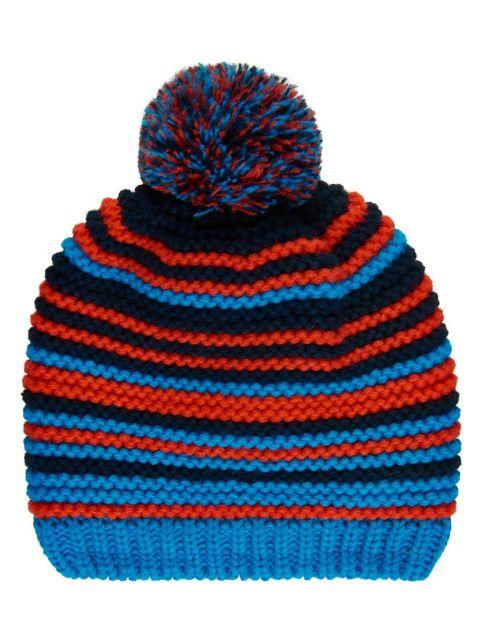 Color-Kids---Beanie-met-fleece-voor-jongens---Gestreept---Lichtblauw