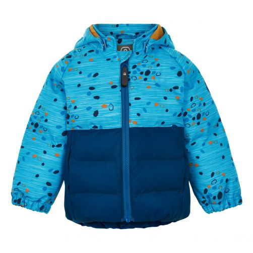 Color-Kids---Softshell-jasje-voor-babyjongens---Dots---Donkerblauw