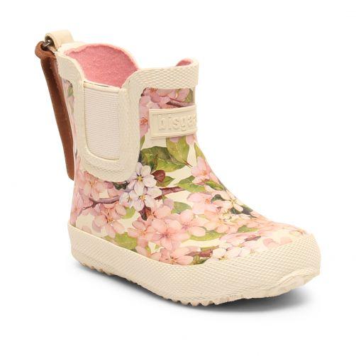 Bisgaard---Regenlaarzen-voor-baby's---Baby-Rubber---Crème-bloemen
