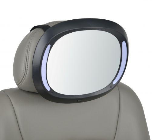 Altabebe---Luxe-baby-autospiegel-met-LED-verlichting---Zwart