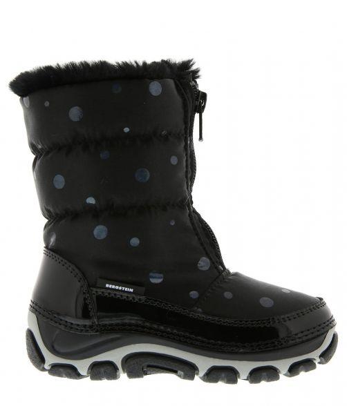Bergstein---Snowboots/winterlaarzen-BN122-met-imitatiebont-voor-kinderen---Zwart