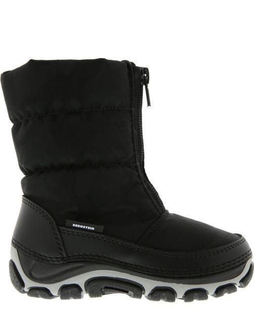 Bergstein - Basic snowboots/winterlaarzen BN120 voor kinderen - Zwart - Voorzijde
