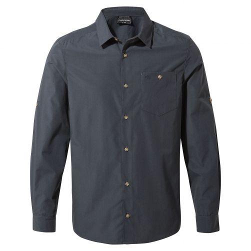 Craghoppers---UV-Overhemd-voor-heren---Longsleeve---Kiwi-Ridge---Staalblauw