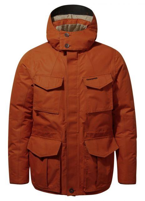 Craghoppers---Waterdichte-jas-voor-heren---Pember---Bruin-Oranje