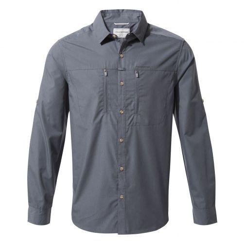 Craghoppers---UV-Overhemd-voor-heren---Longsleeve---Kiwi-Boulder---Blauwgrijs