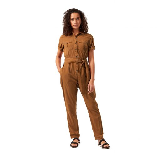 Craghoppers---UV-Jumpsuit-voor-dames---NosiLife-Rania---Oranjebruin