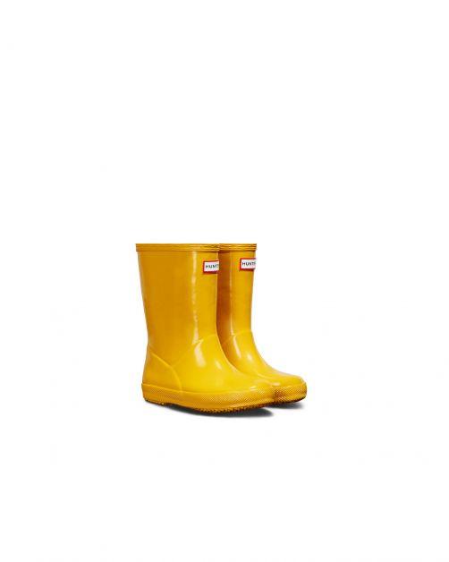 Hunter---Rainboots-for-children---Kids-First-Classic-Gloss---Yellow
