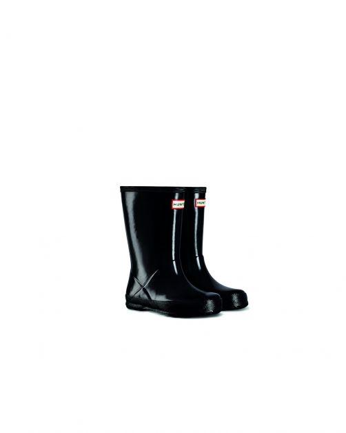 Hunter---Rainboots-for-children---Kids-First-Classic-Gloss---Black
